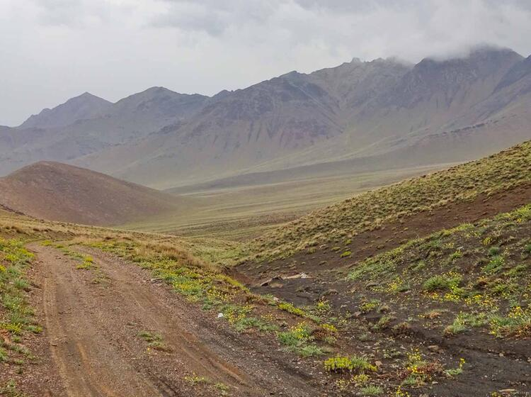 Abgeschiedenheit Beim Trekking Im Iran