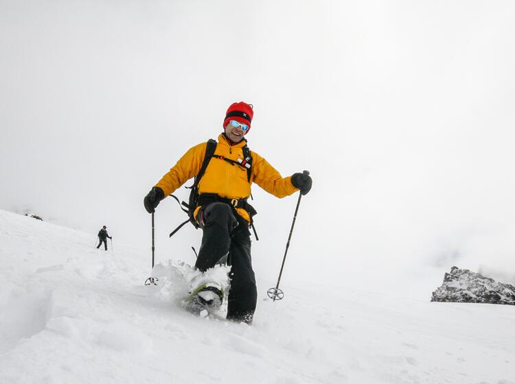 Abstieg Mit Schneeschuhen Am Cevedale