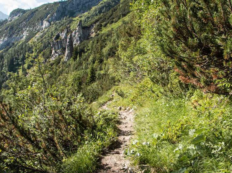 Abstieg Vom Kreuzeckhaus Zur Bockhuette Im Reintal Auf Der Wanderung Rund Um Die Zugspitze