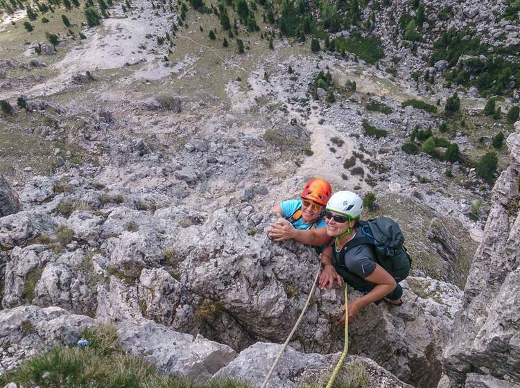 Alpinklettern Lernen Am Alpinkletterkurs