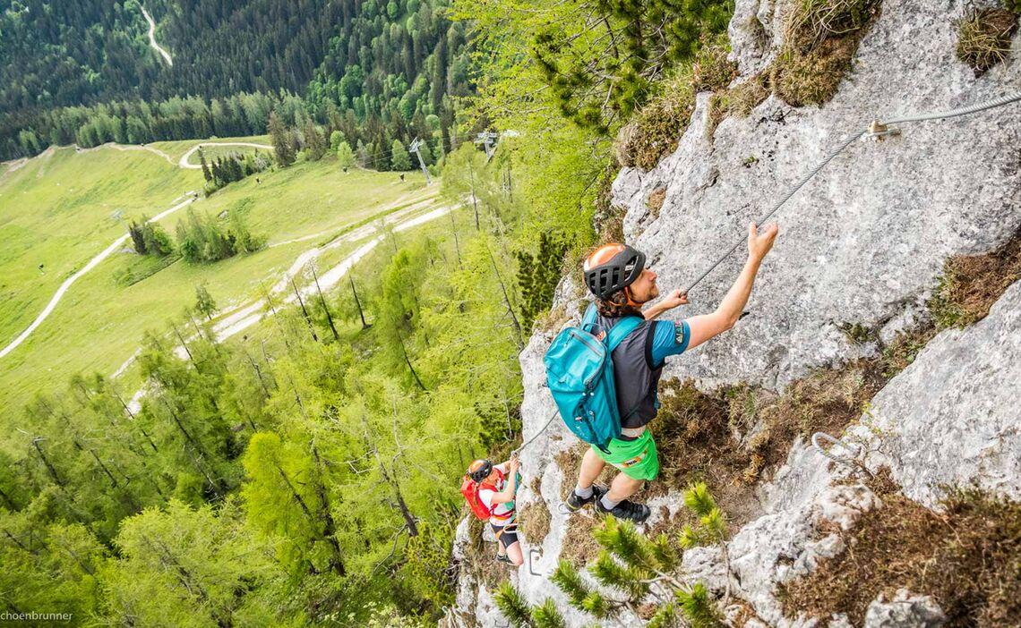 Am Beginn Des Jenner Klettersteig