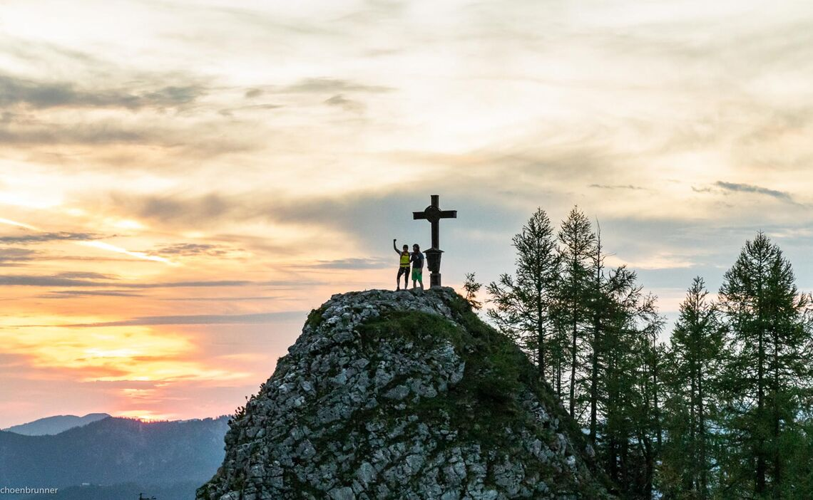 Am Ende Des Klettersteig Jenner Laxersteig Und Schuetzensteig Gipfel Kleiner Jenner