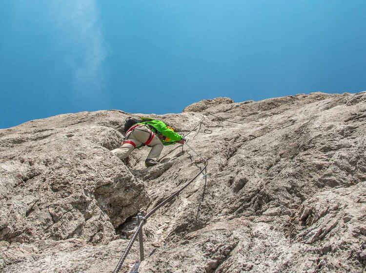 Klettersteig Hochkönig : Hochkönig königsjodler klettersteig mit bergführer