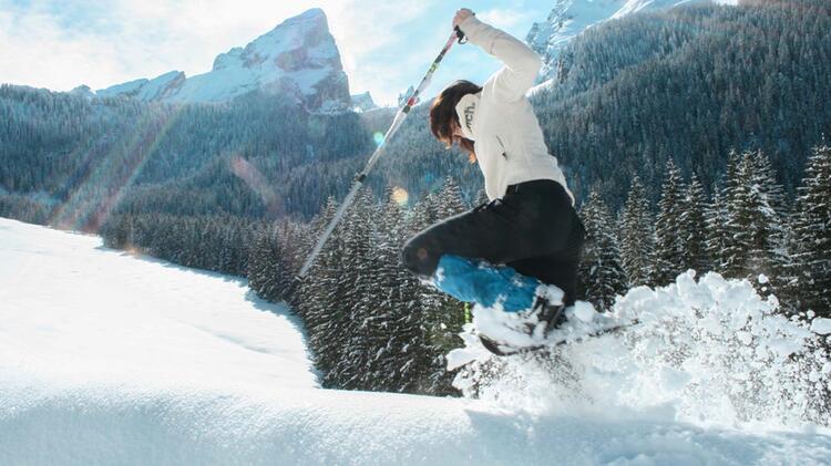 Aufstieg Mit Schneeschuhen In Berchtesgaden