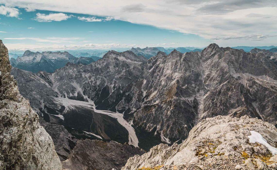 Ausblick Vom Watzmann Ins Steinerne Meer Und Wimbachtal