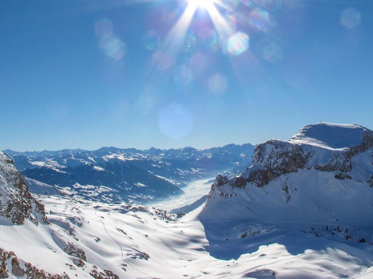 Aussicht Ins Stubai Am Skitourenkurs
