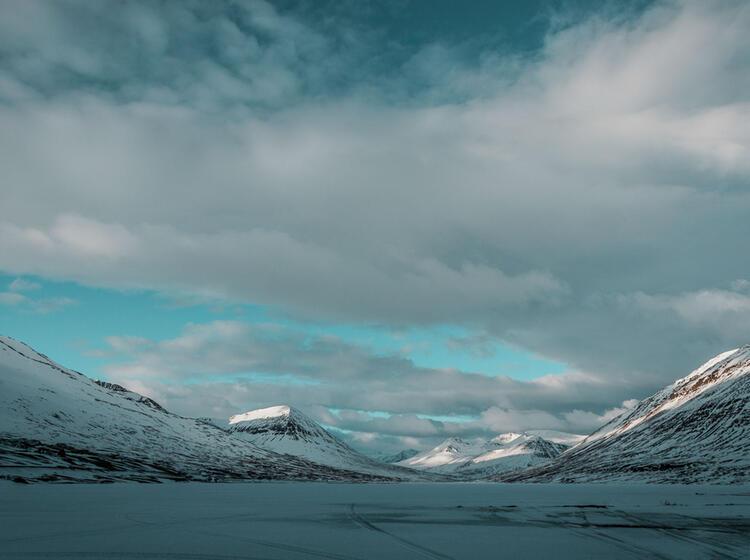 Aussicht Von Der Lodge Bei Den Skitouren Island