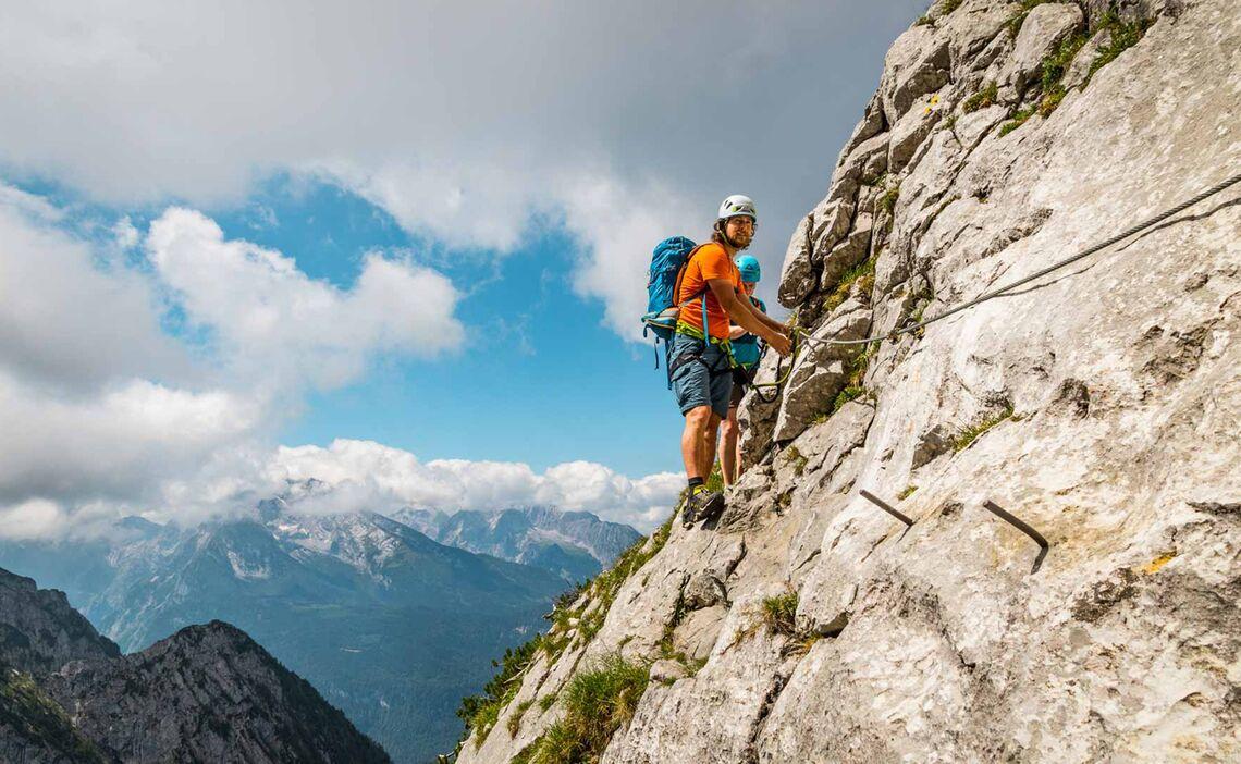 Aussicht Zum Watzmann Am Klettersteig In Berchtesgaden