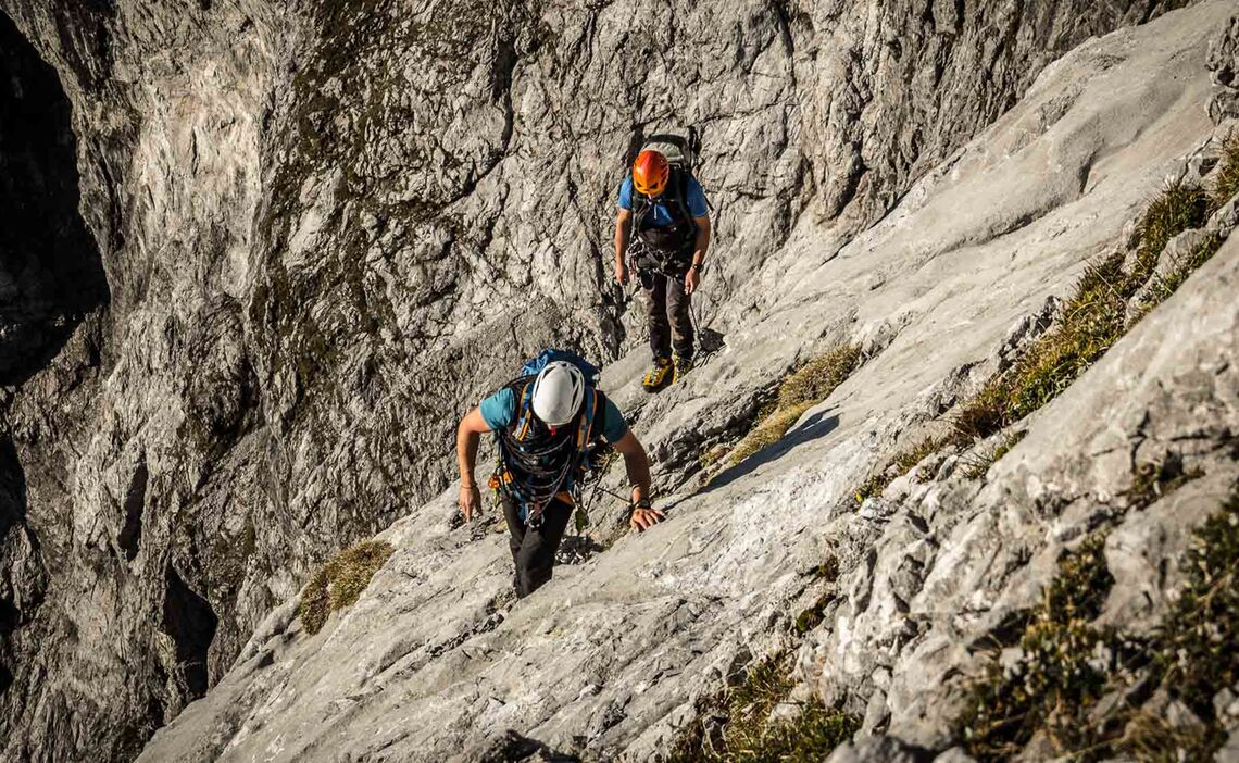Ausstieg Aus Der Rame In Die Gipfelschlucht In Der Watzmann Ostwand