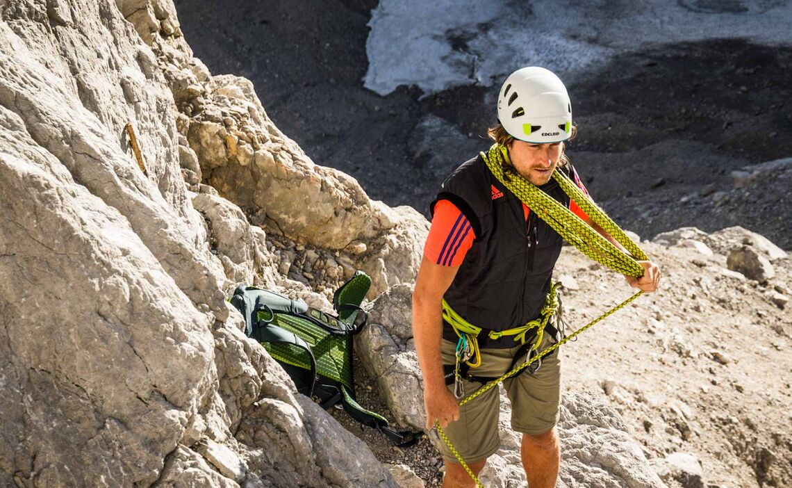 Beginn Der Kletterei In Der Wiederroute Watzmann Ostwand