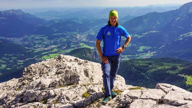 Benedikt Fritz Mit Bergfuehrer Auf Der Watzmannueberschreitung