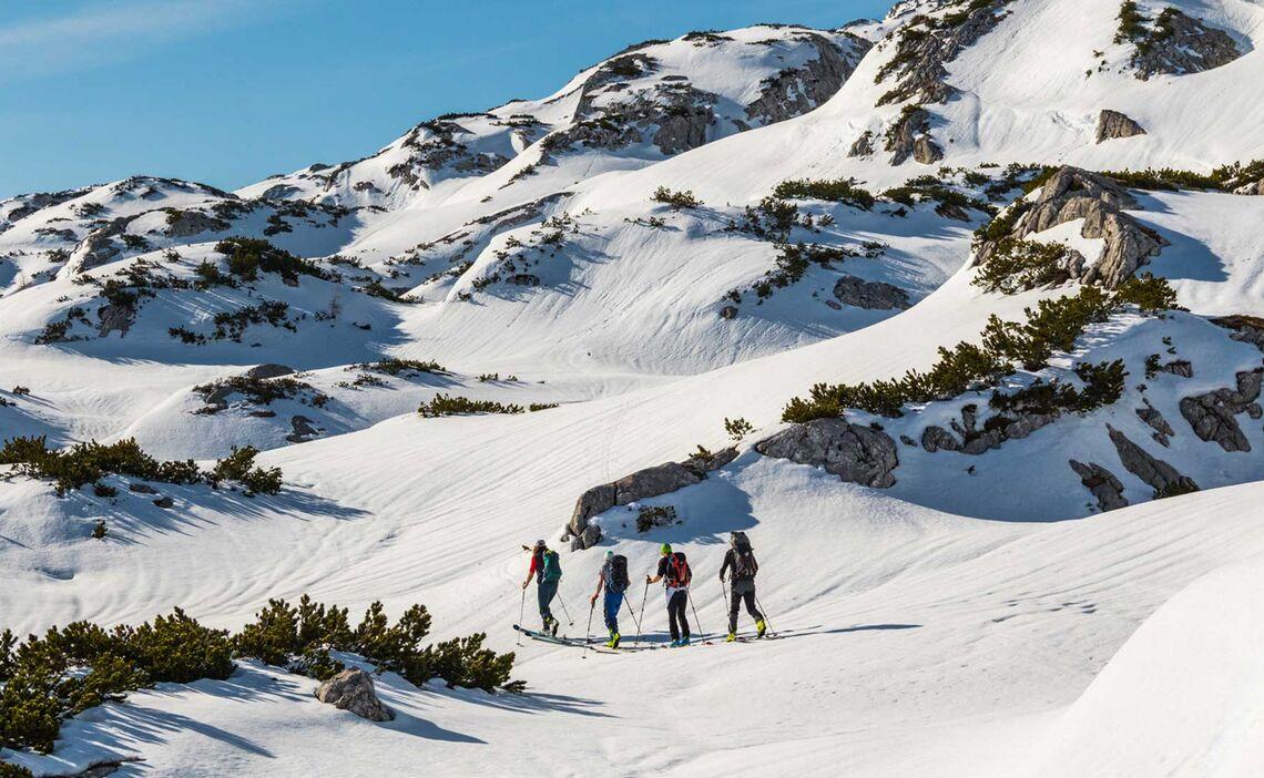 Berchtesgadener Bergfuehrer Auf Der Grossen Reibn Skidurchquerung Im Nationalpark Berchtesgaden