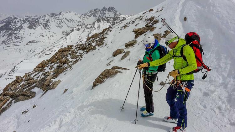 Bergfuehrer Markus Beck Am Piz Buin In Der Silvretta