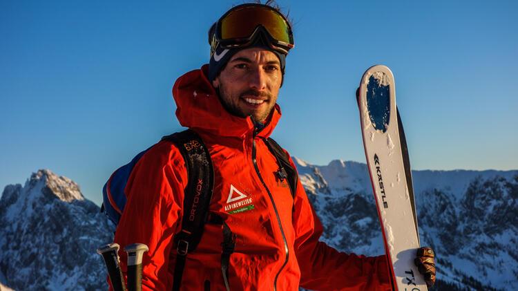 Bergfuehrer Markus Dillmann Auf Skitour Am Wilden Kaiser