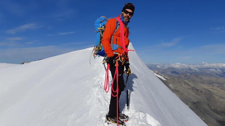 Bergfuehrer Michael Aigner Im Aufstieg Zum Piz Bernina
