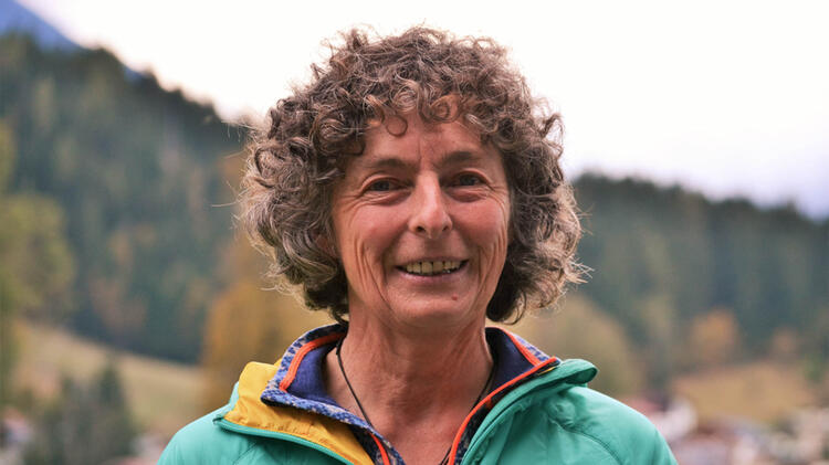 Bergwanderfuehrerin Irene Aschauer Am Watzmann