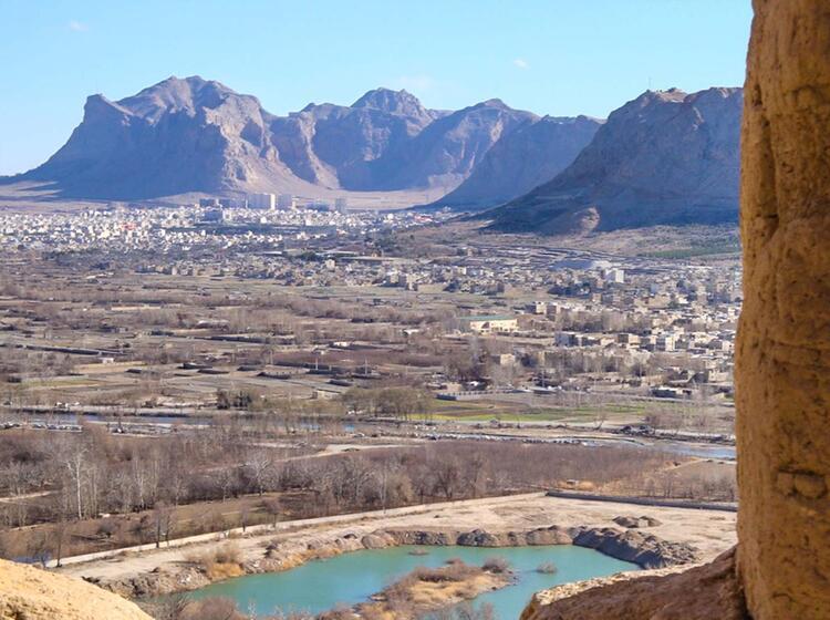 Blick Auf Isfahan Auf Der Fernreise In Den Iran