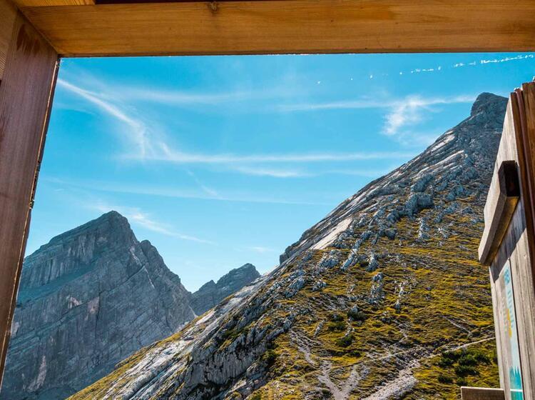 Blick Aus Dem Watzmannhaus Zum Watzmann