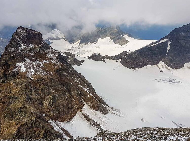 Blick Vom Piz Buin Auf Der Hochtour In Der Silvretta