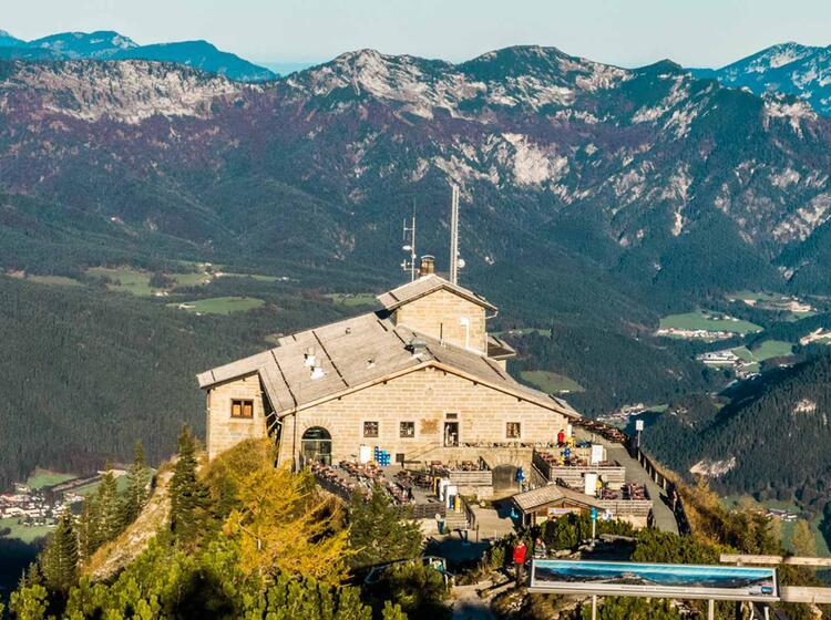 Das Kehlsteinhaus Ist Start Zur Klettersteigtour Auf Den Hohen Goell Ueber Den Mannlgrat