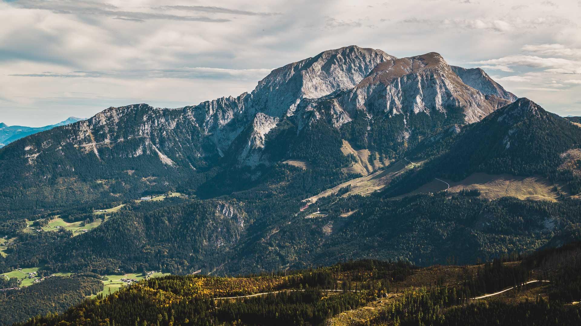Das Kehlsteinhaus und der Hohe Göll im Nationalpark Berchtesgaden