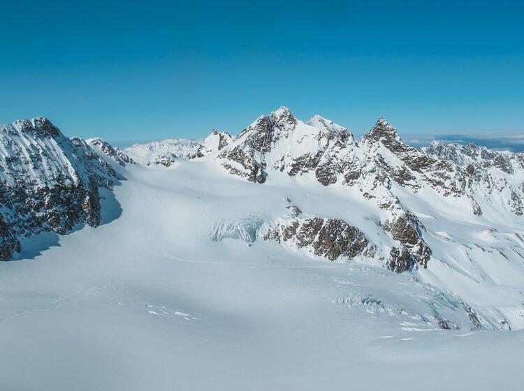Das Silvrettahorn Vom Piz Buin Aus Gesehen
