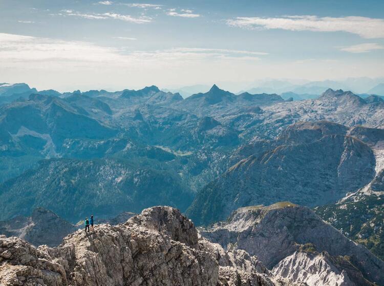 Das Steinerne Meer Und Die Markante Schoenfeldspitze Vom Watzmann Gipfel Aus Gesehen