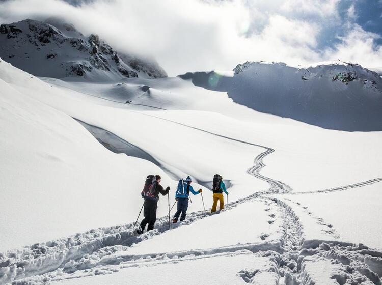 Der Anstieg Zum Piz Buin Auf Skitour In Der Silvretta