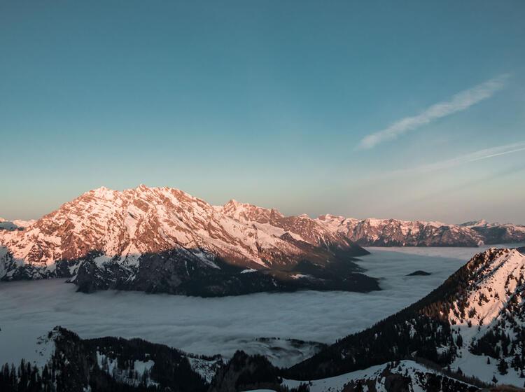 Der Watzmann Im Morgenlicht Aufgenommen Vom Bergfuehrer Auf Der Grossen Reibn