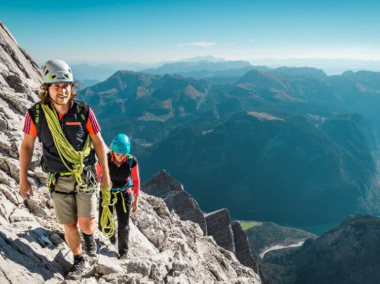 Die Letzten Meter Bis Zum Gipfel Der Watzmann Mittelspitze In Der Wiederroute