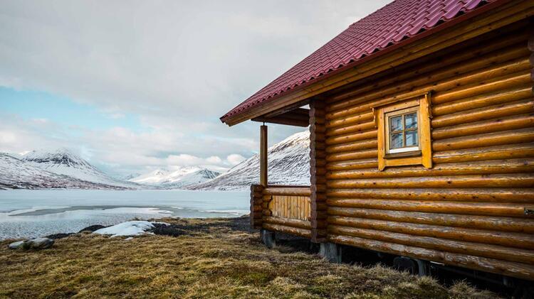 Die Lodge Auf Island Bei Der Skitourenreise