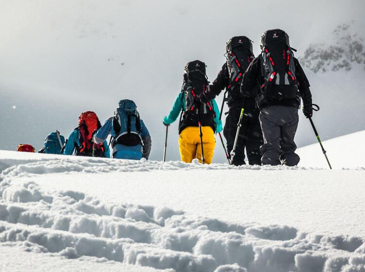Die Richtige Spuranlage Lernen Auf Dem Skitourenkurs