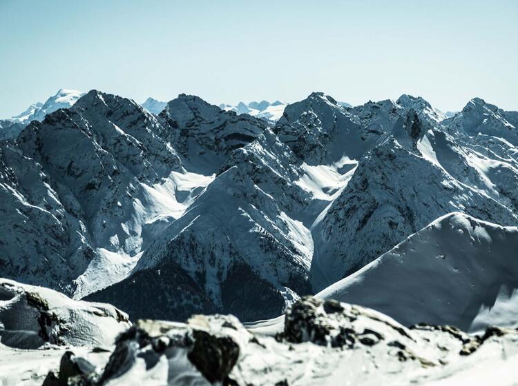 Die Verschneite Silvretta Vom Gipfel Der Dreila Nderspitze