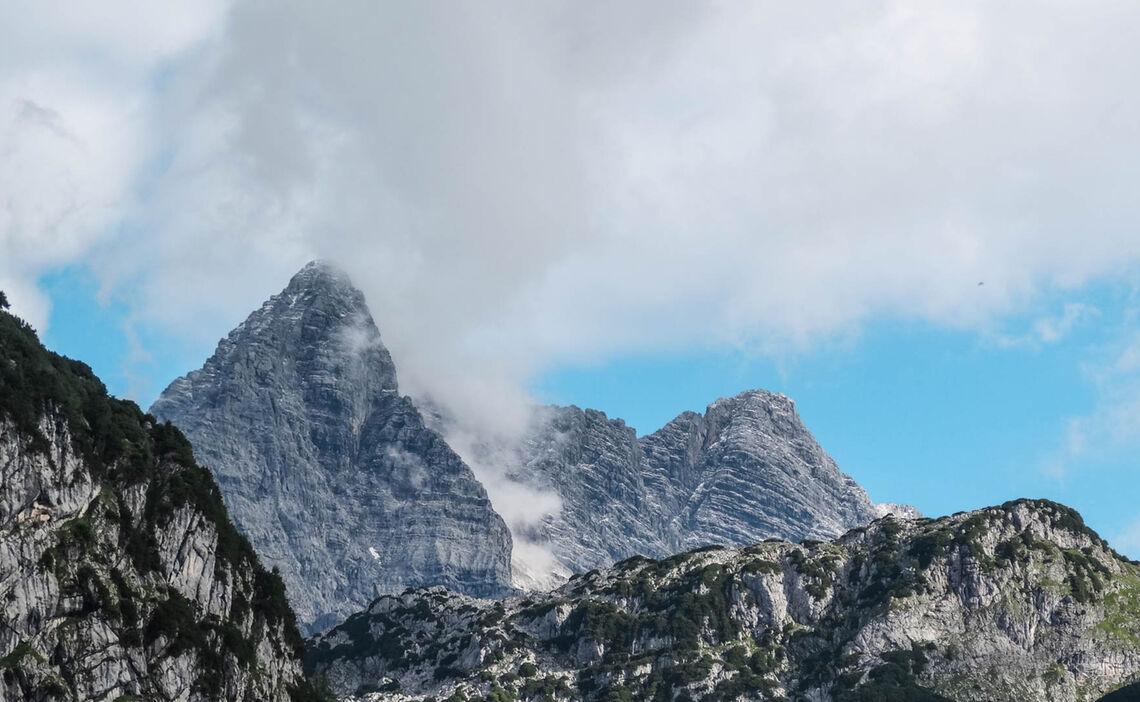 Die Watzmann Mittelspitze Aus Dem Steinernen Meer Gesehen