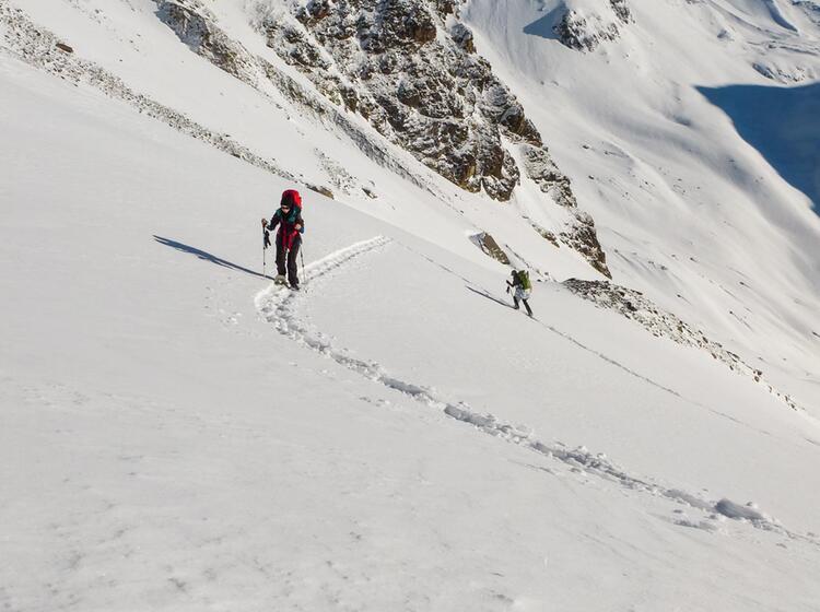 Durchquerung Der Silvretta Mit Schneeschuhen