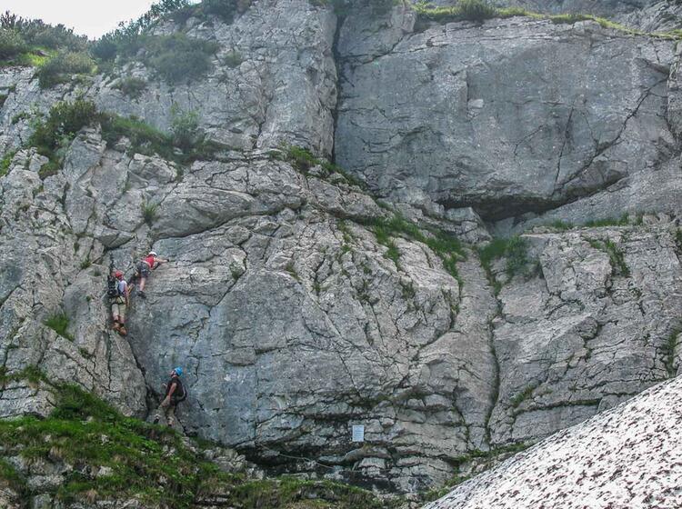 Einstieg In Den Pidinger Klettersteig Am Staufen Mit Bergfuehrer