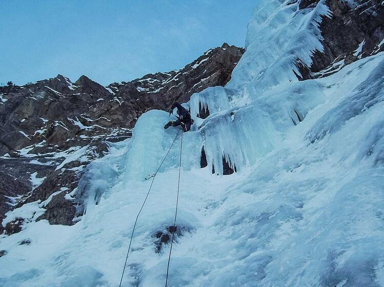 Eisklettern Im Vorstieg In Bad Gastein Mit Der Alpinschule