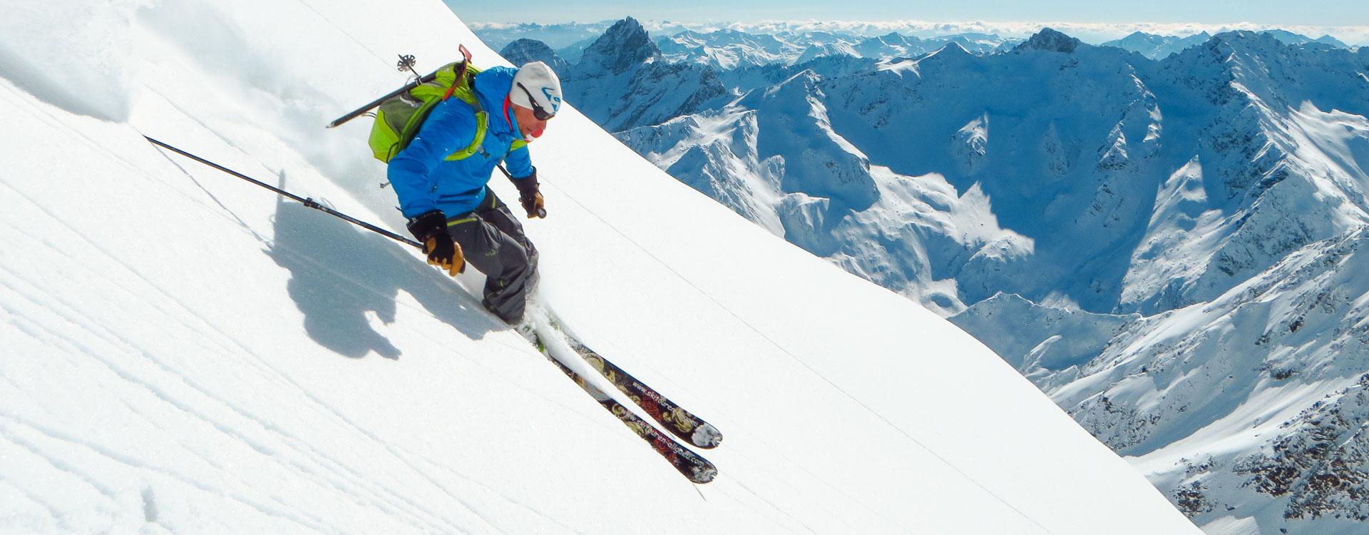 Freeriden in Verbier und Chamonix mit Bergfuehrer