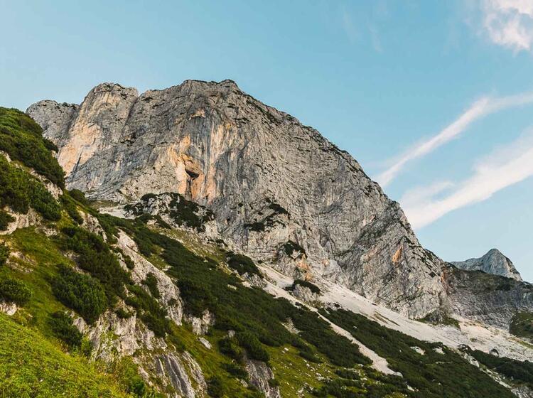 Fuehrung Am Klettersteig Untersberg Hochtron Steig