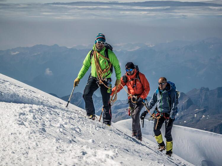 Gefuehrte Touren Am Gletscher