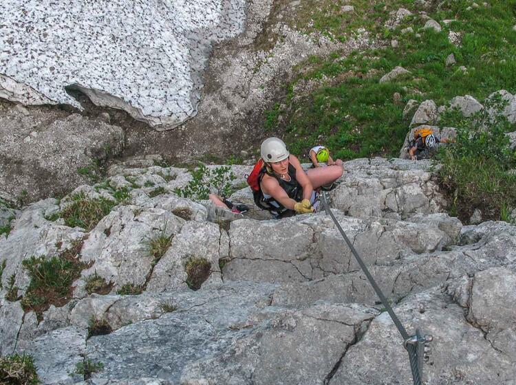 Gefuehrter Klettersteig In Piding Am Staufen