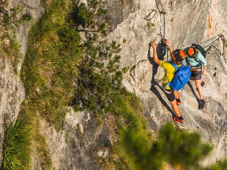 Gefuehrter Klettersteig Kurs In Berchtesgaden