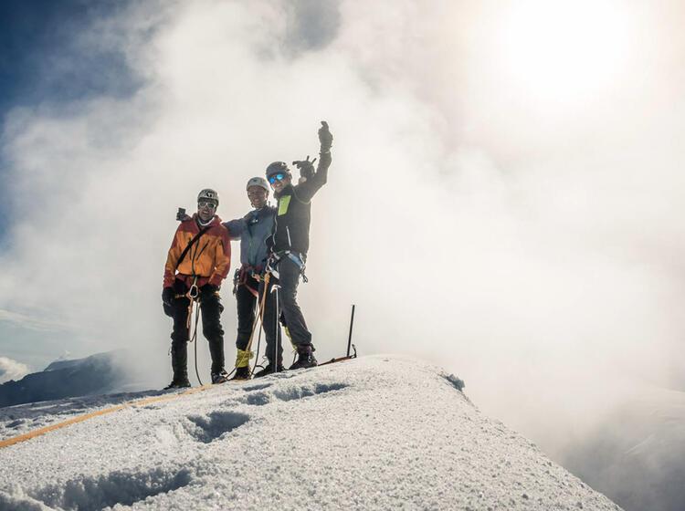 Gipfel Auf Der Spaghettirunde Im Wallis