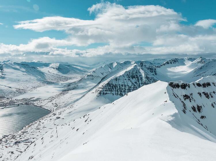 Gipfel Panorama Im Skitouren Paradies Island