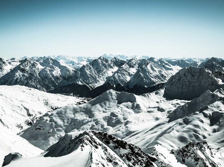 Gipfel Panorama In Der Silvretta Vom Piz Buin