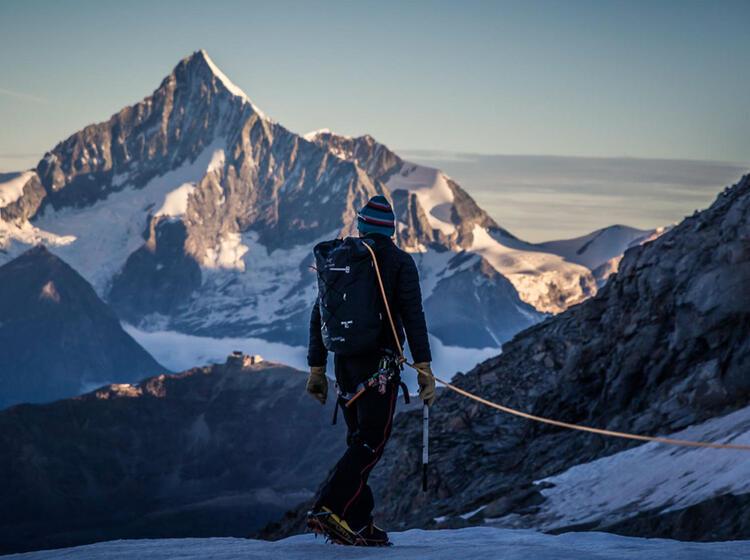 Gletscher Hochtour Im Wallis