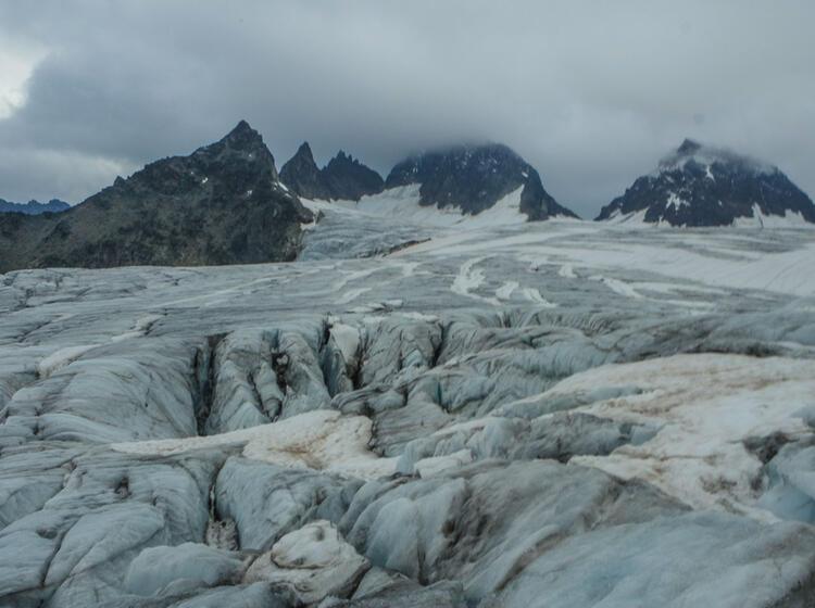 Gletscher Zum Piz Buin In Der Silvretta