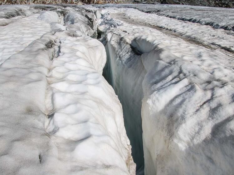 Gletscherspalten Im Abstieg Vom Grossvenediger Zur Kuersingerhuette