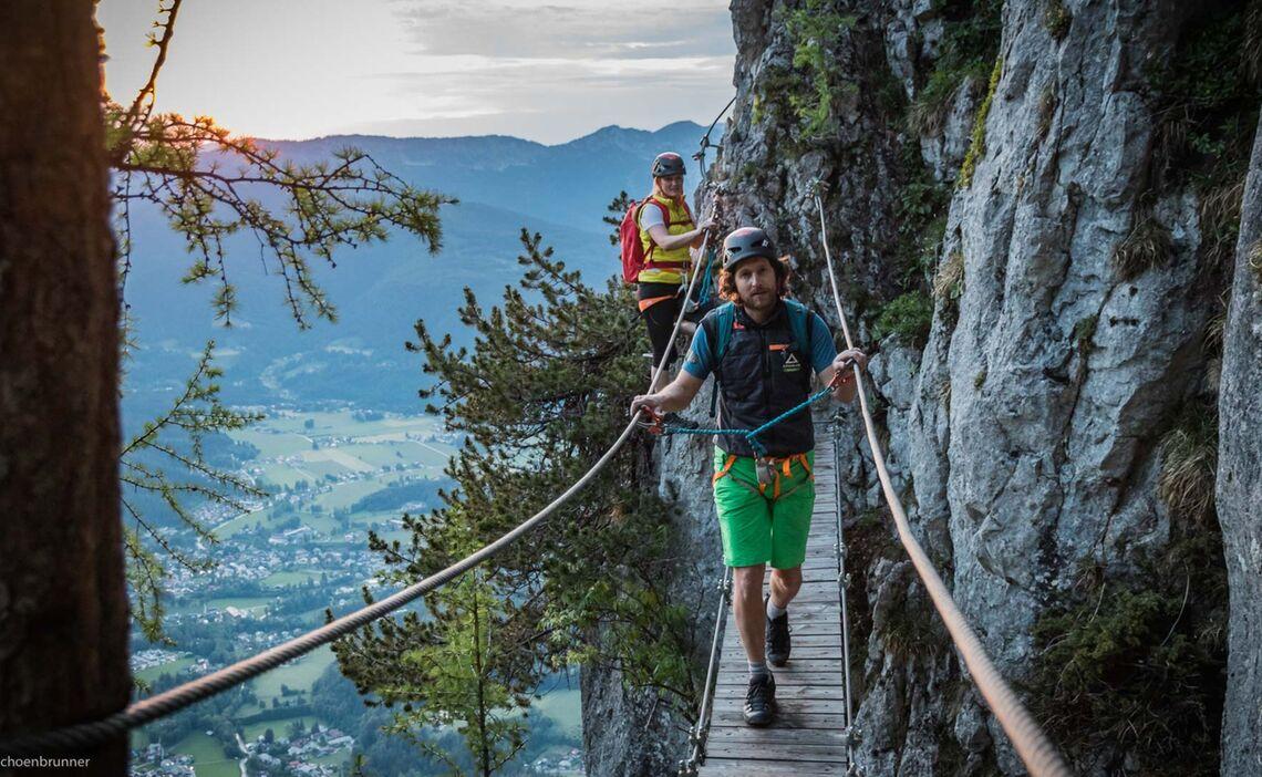 Haengebruecke Am Klettersteig Jenner In Berchtesgaden