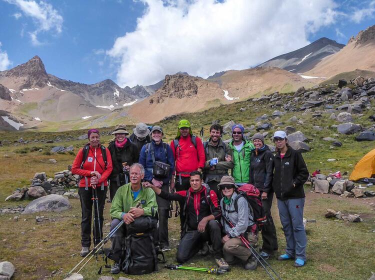 Hesar Chal Alam Kuh Auf Dem Trekking Zum Damavand